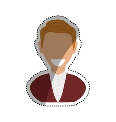 Successful businessman pictogram vector