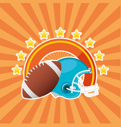 Superbowl sport poster with balloon and helmet vector
