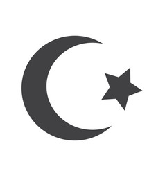 symbol of islam star crescent icon vector image