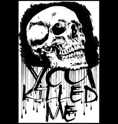 t-shirt graphicsskull printskull evil vector image