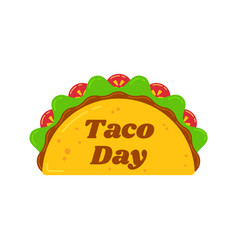 traditional tacos meal national taco day festival vector image