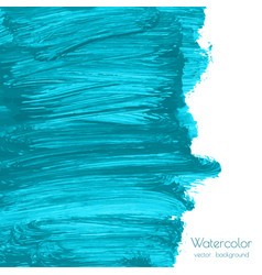 turquoise blue indigo watercolor texture vector image