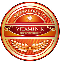 Vitamin k icon vector