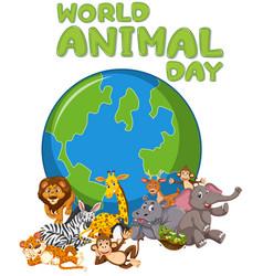 wild animal days logo vector image