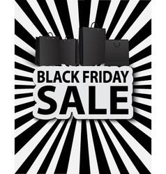Black friday sale with shopping bags vector image vector image