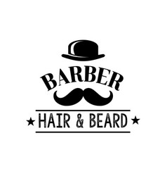 hair and beard man barber shop icon vector image vector image