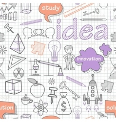 seamless pattern of doodle style vector image