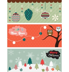 Set of Christmas banner vector image