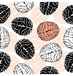 brain seamless background Template for your vector image vector image