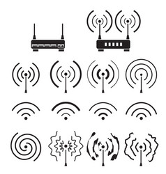 collection of wifi and wireless signal wave vector image vector image