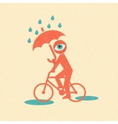 Cyclist Retro poster vector image vector image