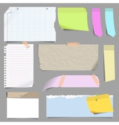 set of blank note paper vector image vector image