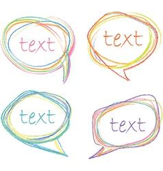 sketch speech bubbles vector image vector image