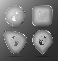 Skydiver glass buttons vector