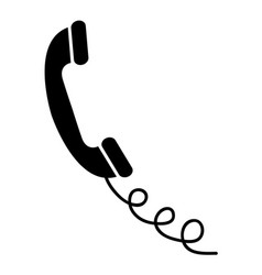 telephone cable curly communication image vector image