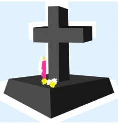 cross with candle vector image vector image