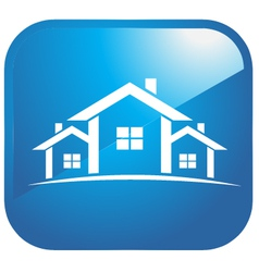 Icon set of houses vector image vector image