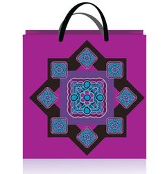 lilac bag vector image
