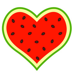 abstract watermelon heart vector image
