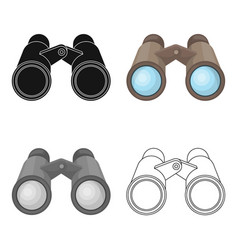 binoculars for observationafrican safari single vector image vector image