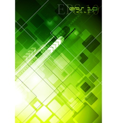 Bright green technology design vector image vector image