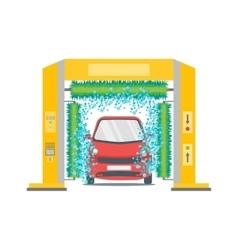 Car wash service station vector