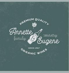 family winery wine shop logo organic wines vector image vector image