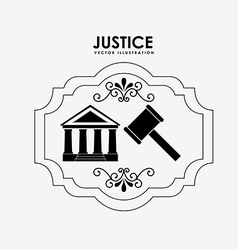 justice and law design vector image