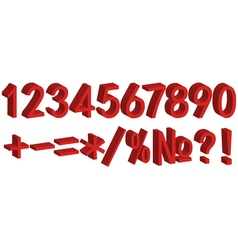 3D number figure for clearance sales vector image