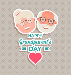 abstract happy grandparents day background vector image