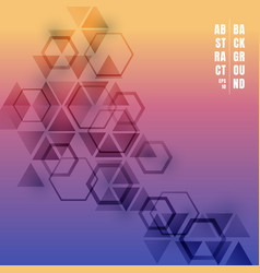abstract triangles and hexagons gradient color vector image