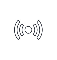 Access point wi-fi signal antenna thin line icon vector