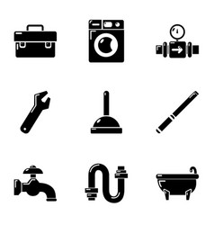 Anhydrous icons set simple style vector