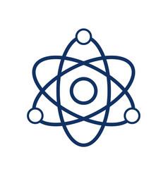 atom icon on white background vector image