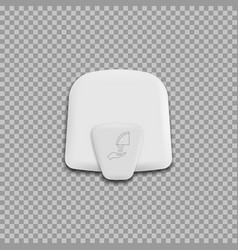 Automatic hand dryer isolated on background vector