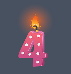 birthday candle on dark vector image
