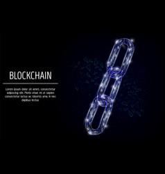blockchain technology geometric polygonal vector image