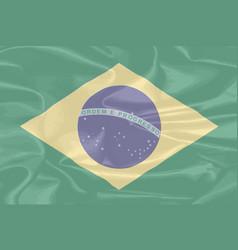 brazil silk flag vector image