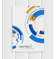 brochure in abstract style with blue shapes vector image