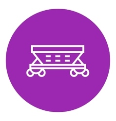 Cargo wagon line icon vector