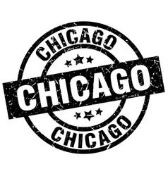 Chicago black round grunge stamp vector