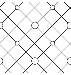 Circles grid stripped seamless pattern vector image