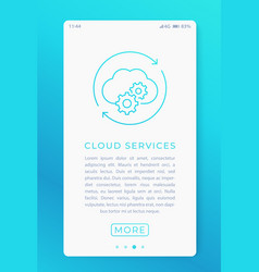cloud services in mobile app vector image