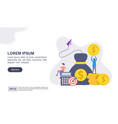 concept accounting with character modern vector image