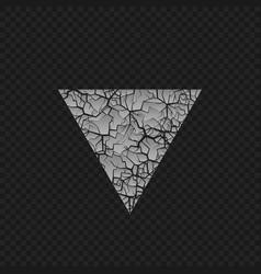 cracked triangular shape vector image