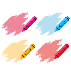 Crayons in four colors vector