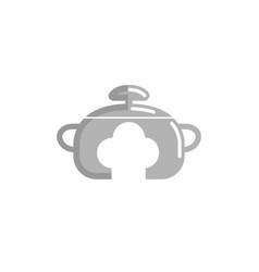 cuisine cooker chef logo vector image