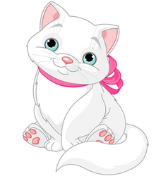 Cute fat cat vector