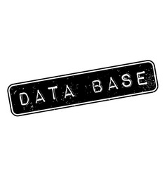 data base rubber stamp vector image