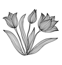 Decorative tulips vector